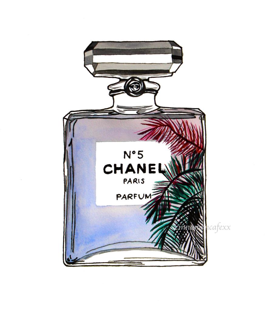 chanel-fashion-fashionillustration-palmtree-Favim.com-1768505
