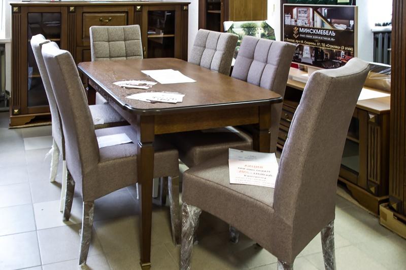(дуб мореный)_обеденная группа (стол+стулья)