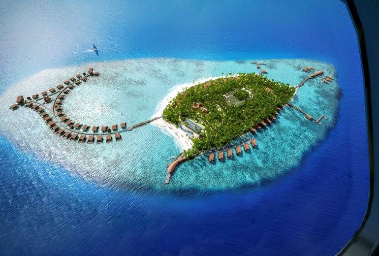 Aerial-rendering-The-St.-Regis-Maldives-Vommuli-Resort